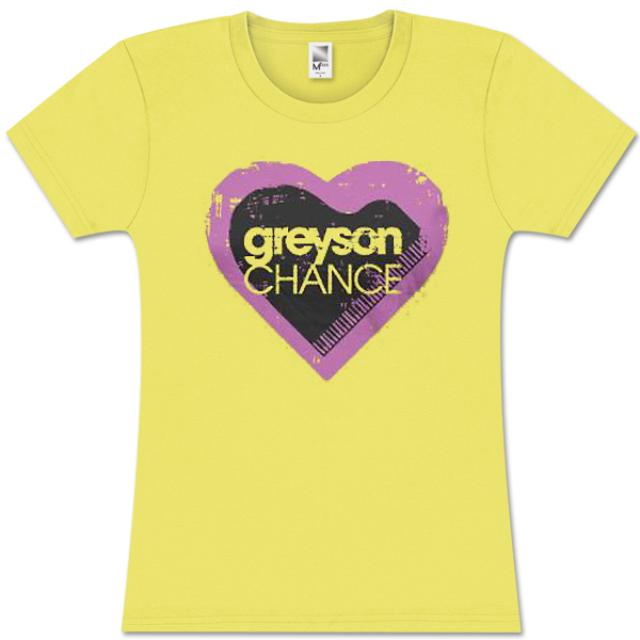 Greyson Chance Heart Girlie T-Shirt