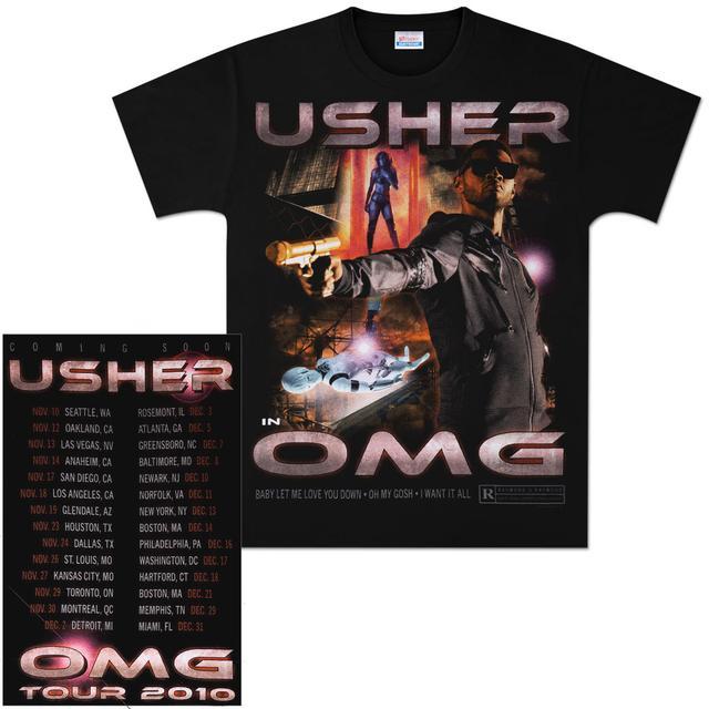 Usher OMG Movie Poster Tour T-Shirt