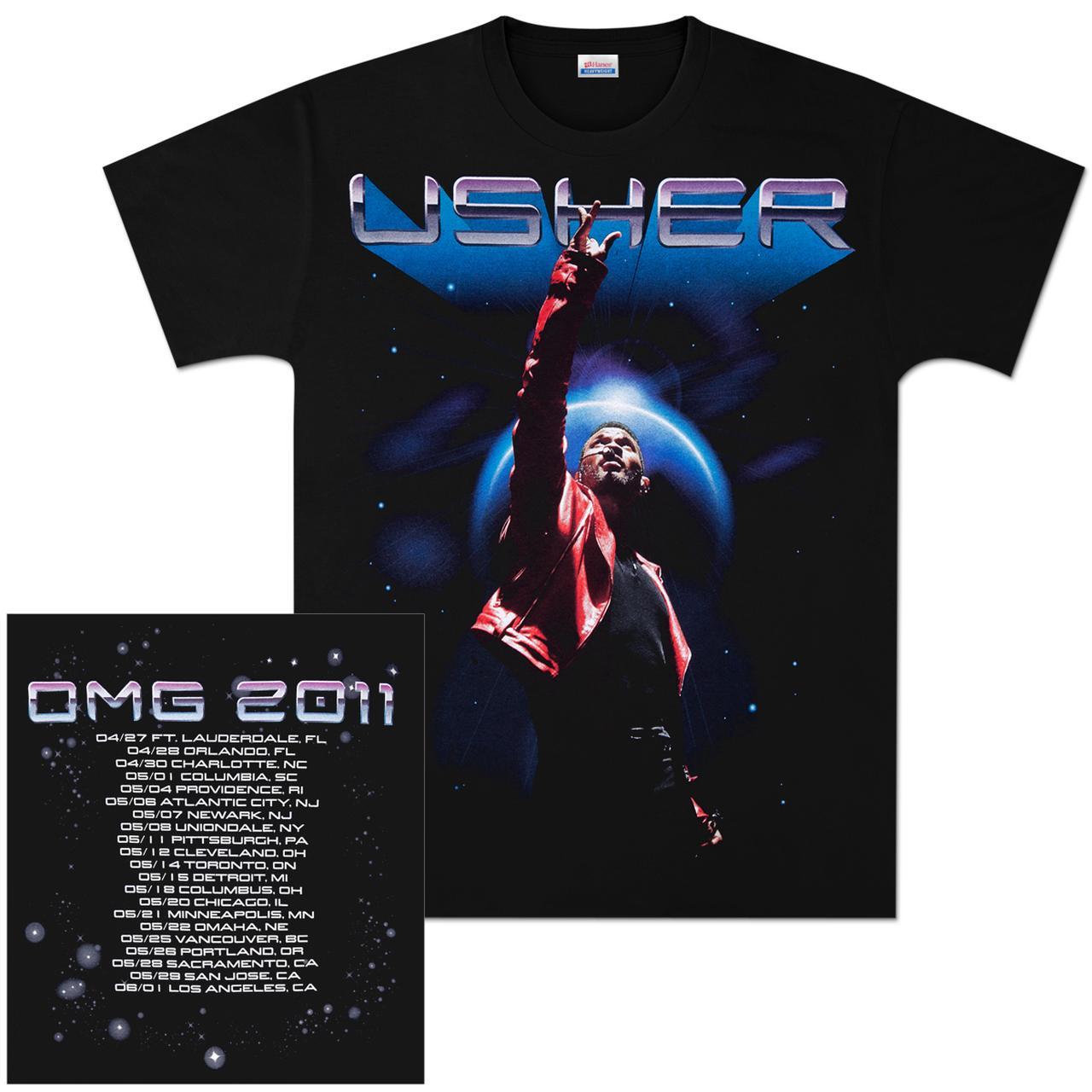 Usher 2011 Eclipse Spring Tour T-Shirt  Usher 2011 Ecli...