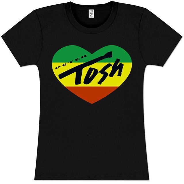 Peter Tosh Rasta Heart Girlie T-Shirt