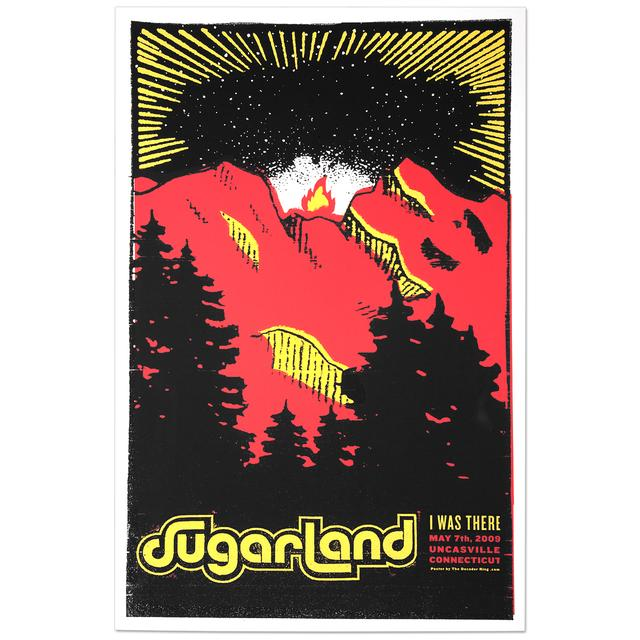 Sugarland 5/7/09 Uncasville, CT Event Poster