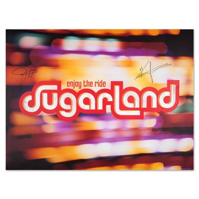 Sugarland Enjoy the Ride Autographed Litho