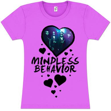 Mindless Behavior Heart Girlie T-Shirt