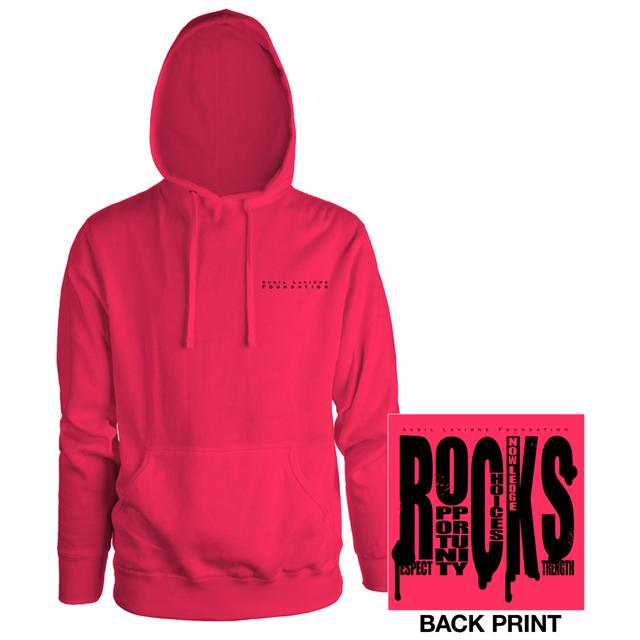 Avril Lavigne R.O.C.K.S Pullover Hooded Sweatshirt
