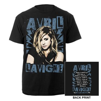 Avril Lavigne Black Star Tour Photo Tee