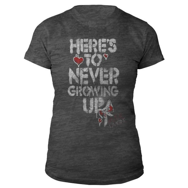 Avril Lavigne Here's To Never Growing Up Burnout Tee